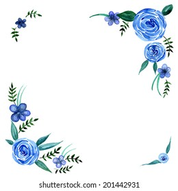 Blue Flower Border Images Stock Photos Vectors Shutterstock