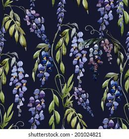 watercolor, blue, pattern