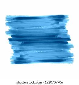 Watercolor blue stroke design vector