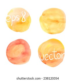 Watercolor blurs. Vector elements. Hand drawn.