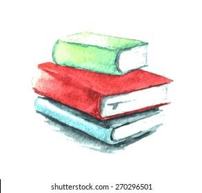 Watercolor books illustration