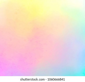 Watercolor bright vibrant hand drawn colorful vector smudges card for design, greeting. Abstract blue violet yellow pink color brush paint blur smooth vivid background