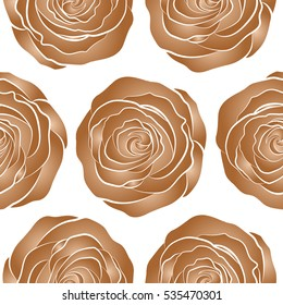 Isolated Rose Flowers Brown Colors On Stock Vector Royalty Free