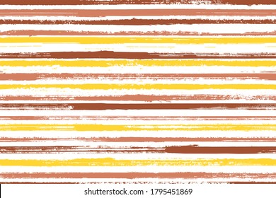 Watercolor brush stroke straight lines vector seamless pattern. Abstract linen fabric print design. Old style geometric straight lines, stripes background swatch. Endless ornament.