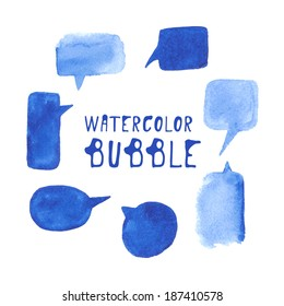 Watercolor bubble set. Vector.