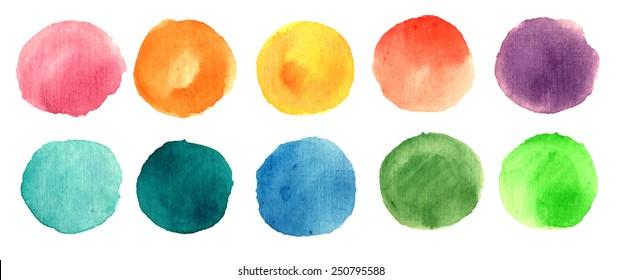 Imagenes Fotos De Stock Y Vectores Sobre Round Watercolor