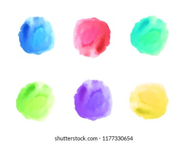 Watercolor color spots