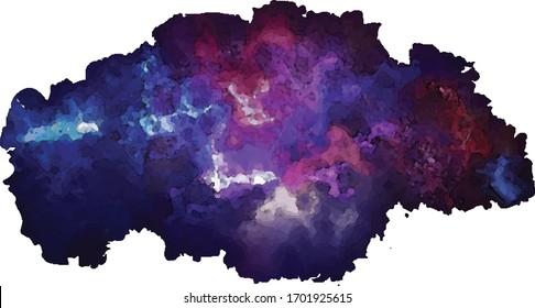Watercolor dark voodoo background vector