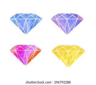 Watercolor Diamonds