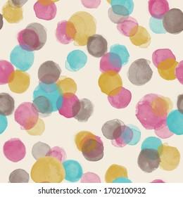 Watercolor dot pattern geometric material
