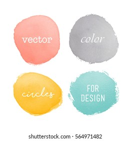 Watercolor elements for design