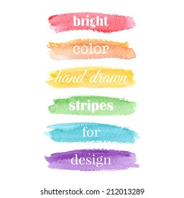Watercolor elements for design. Vector illustration