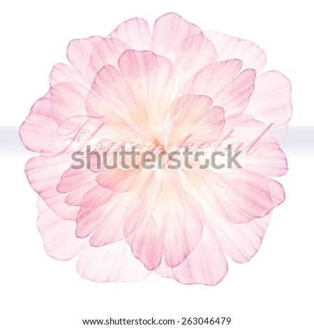 Watercolor floral round patterns pink flower stock vector royalty watercolor floral round patterns pink flower vectorized watercolor drawing mightylinksfo