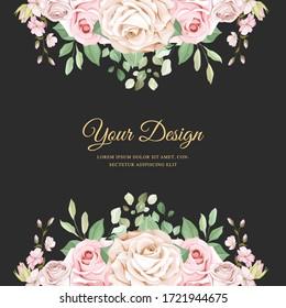 watercolor floral wedding invitation card theme