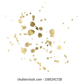 Watercolor gold Drop Splash Vector Hand drawn design