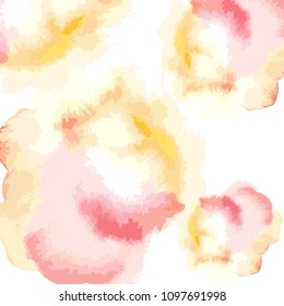 Watercolor hand draw vector background. Colorful orange peach and white artistic wallaper