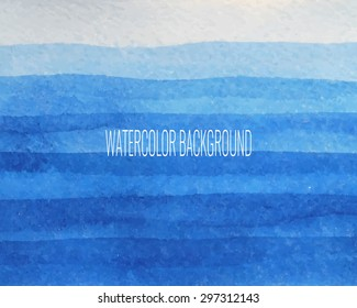 watercolor hand drawn blue gradient background