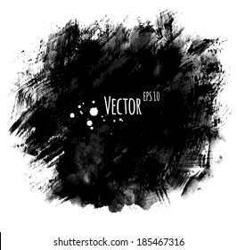 Watercolor hand painted background with brush strokes. Vector EPS 10.