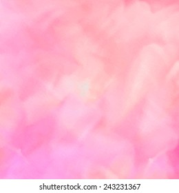 Watercolor hand painted pink abstract background. Traced vector illustration, eps10.