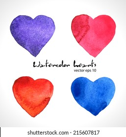 Watercolor illustration of color heart.
