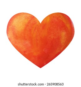 Watercolor illustration heart
