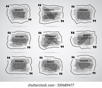 watercolor ink splash quote blank templates stock illustration