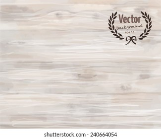 Watercolor light wood texture background. Vector illustration, eps 10.