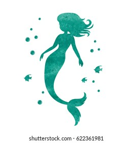 picture regarding Free Printable Silhouettes called Mermaid Silhouette Shots, Inventory Illustrations or photos Vectors Shutterstock