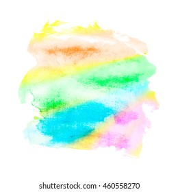 Watercolor mixed colors background made in vector