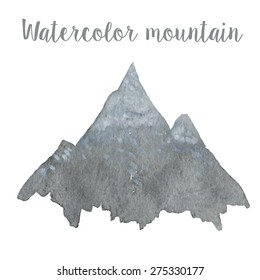 Watercolor mountain in vector