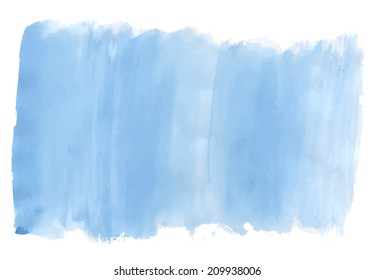 Watercolor paint of blue sky. Vector illustration.