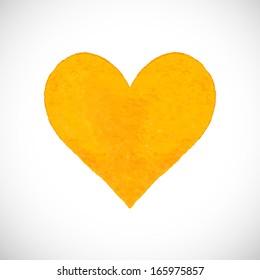 Yellow Heart Images, Stock Photos & Vectors | Shutterstock