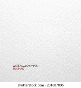 Watercolor paper texture. Vector