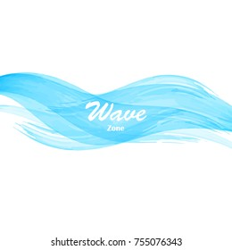 Watercolor sea ocean wave colored text banner background. Texture brush colorful frame backdrop splash design for text. Vector colored illustration. Blue grunge color cover magazine, book.