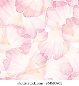 Watercolor Seamless pattern. Pink flower petal. Vectorized watercolor drawing.