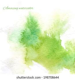 Watercolor splash background green