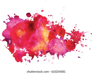 Watercolor stains.  Colorful background.