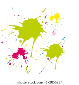Watercolor stains. Vector illustration.