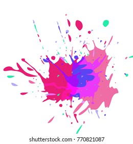 Watercolor stains. Vector illustration.Dirty artistic design elements.