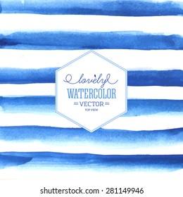 Watercolor stripes. Vector illustration