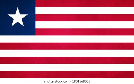 Watercolor texture flag of Liberia. Creative grunge flag of Liberia country with shining background