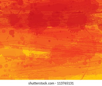 Watercolor vector background with warm colors