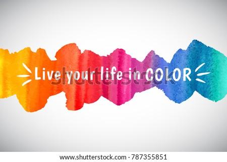 watercolor vector rainbow border frame inspiration のベクター画像