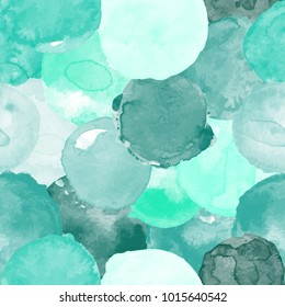 Watercolor vector seamless pattern for wallpaper, pattern fills, web page background, surface textures in  teal, blue colors