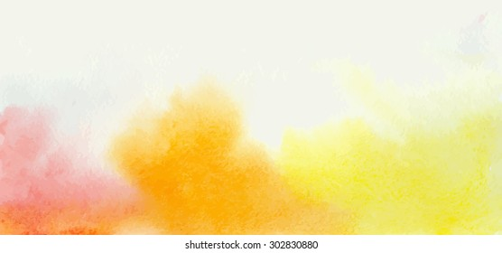 Watercolor vector yellow background with divorces for your creativity