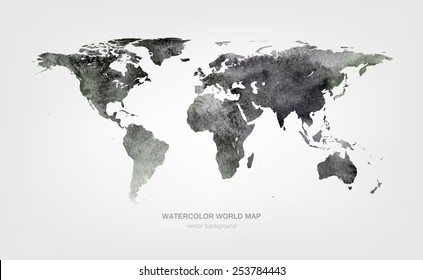 Watercolor World Map Images Stock Photos Vectors