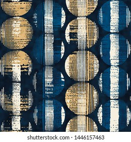 Watercolor-Dyed Effect Brushed Textured Dots Graphic Motif. Seamless Pattern.