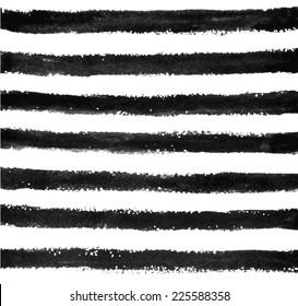 Watercolor/ink stripes pattern