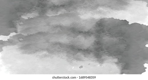 Watercolor.Vector cloudy sky background texture.