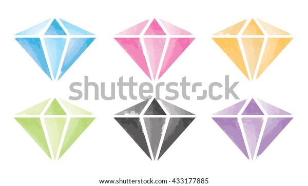 Watercolour Diamonds